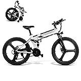 Coolautoparts Vélo Électrique Pliant/VTT 26 Pouces 350 W/500W 25 km/h Aluminium avec Batterie Lithium 48V 10AH Shimano 21 Vitesses Frein à Disque Hommes Femme [EU Stock]