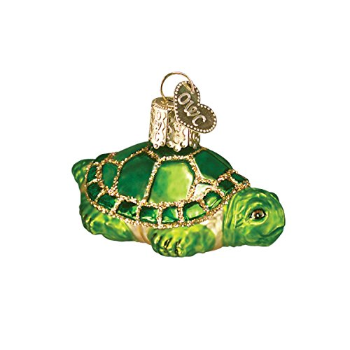 Old World Christmas Glass Blown Ornaments for Christmas Tree Small Turtle