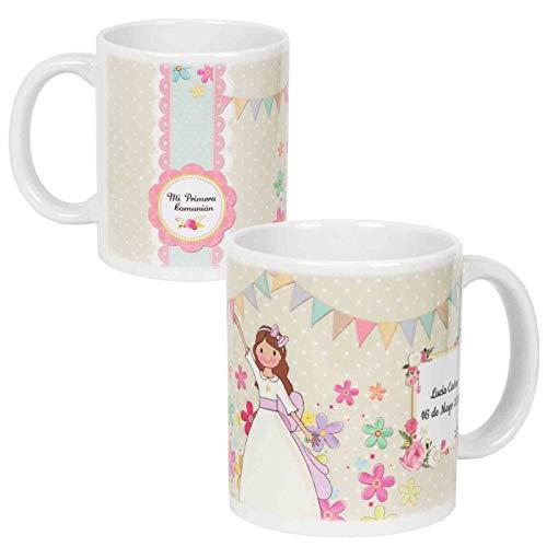 Lote de 6 Tazas de Porcelana Decorativas para Comunión Personalizables