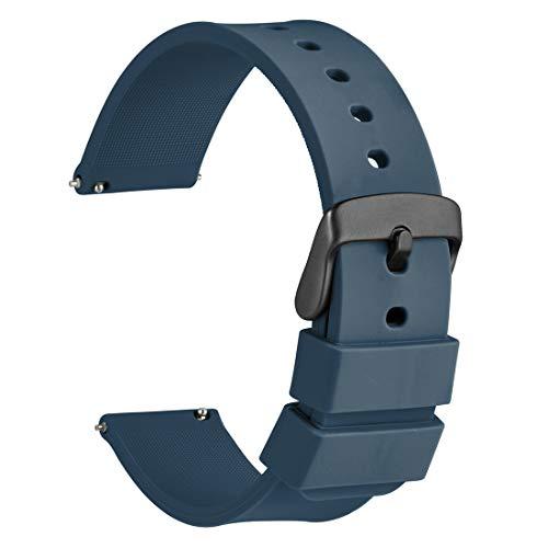 WOCCI 22mm Orologi Cinturino in Silicone con Fibbia Nera per Uomo Donna,...