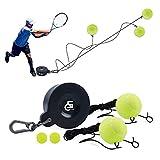 5C CHIER Solo Tennis Trainer Set in Ferro con palla da tennis con elastico e accessori, attrezzo per allenamento tennis per esterni o in giardino, per bambini e adulti