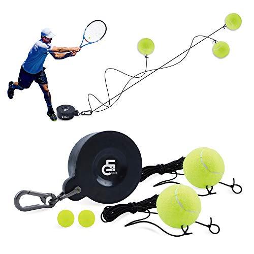 5C CHIER Solo - Juego de entrenamiento tenis hierro, incluye pelota con banda goma y accesorios, dispositivo para exteriores o en el jardín, niños adultos