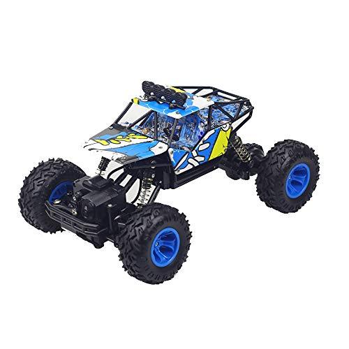 RC Auto Fuoristrada Rock Crawler 4x4 Radiocomandati MaxTronic Monster Truck Telecomandato Scala 1:16 4WD 2.4GHz SYNC System Tutto Terreni Veicoli SYNC System per modalità Multi Giocatore,Blue
