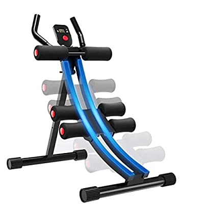 [Ship from US] Fitness Core & Abdominal Trainers Body Exercise AB Workout Machine Adjustable Foldable Fitness Equipment with LCD Display for Home Gym Strength Training Ab Crunch