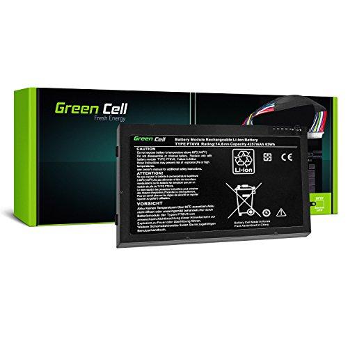 Green Cell® 8P6X6 PT6V8 Laptop Akku für Dell Alienware M11x R1 R2 R3 M14x R1 R2 R3 (Li-Polymer Zellen 4000mAh 14.8V Schwarz)