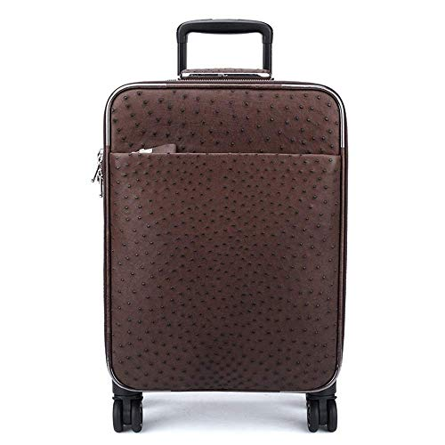 LSNLNN Bags,Leather Trolley Case, Brown Leather Case, Flight Case, Men's Suitcase