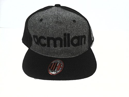 A.C.Milan - Gorra para hombre, producto oficial de béisbol, ajustable, color negro, art. 14446
