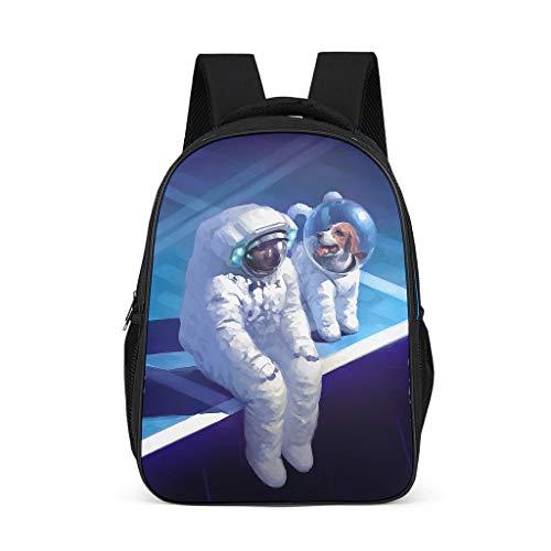 Mochila, diseño de perro espacial, duradera, para niños y adultos, regalo para niños y niñas