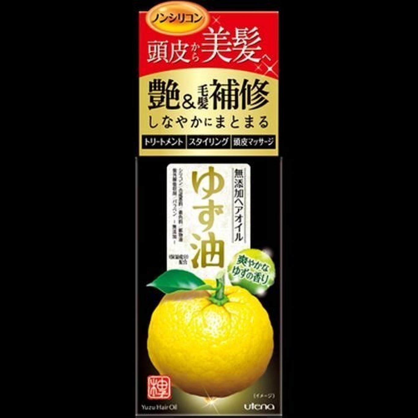 必要条件小説家コントローラ【まとめ買い】ゆず油 無添加ヘアオイル 60mL ×2セット