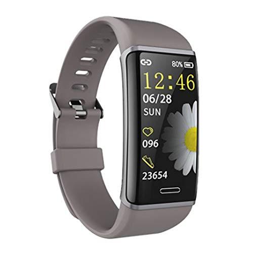 XUEMEI Pulsera Inteligente Pulsera Aptitud Rastreador De Fitness Ritmo Cardíaco Reloj De Monitor De Salud Banda De Ritmo Cardíaco a Prueba De Agua Pulsera Inteligente (Color : Gray)
