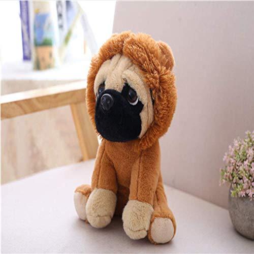 Knuffel Zandhond Mopshond Knuffel Schattig Laat Zacht Gevulde Pop Hond Hond Cosplay Kinderen Kinderen Kinderen Verjaardagscadeau 30 Cm Bruin