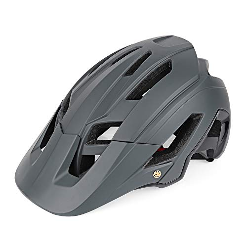 Nochicass - Casco de bicicleta para adultos y adultos, talla ajustable, ligero, color gris, tamaño 56-61 cm (22-24 inch)