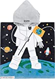 Hooded Towel for Babys Toddlers, Boys Girls 12M to 5 Years, 48'x24' Cotton Wrap,Super Soft Absorbent Cotton,Multi Use for Kids Bath Pool Beach Swim Bathroom Child Cover ups, Astronaut Theme