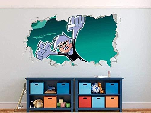 Pegatinas de pared Apariencia: pegatinas de pared extraíbles para dormitorio, oficina, arte, murales, vinilo, calcomanías de pared Póster Arte 3D Mural 50x70cm