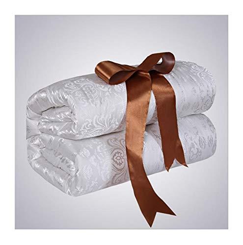 100% Seide Decke Maulbeereseidesteppdecke Queen-Size-Tribut chinesische Seide Bettwäsche Bett (Color : White, Size : 200X230 5kg)