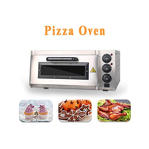 Commercial Electric Pizza Oven 2000W Single Deck Baking Fire Stone,Pizza Maker Temperature:50~350 ?,for 1X16