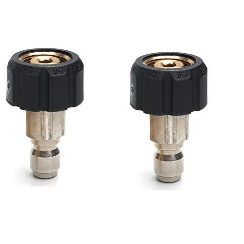 Hogedrukreiniger Snelle connector Wasmachine Adapter Slang snelkoppeling Waterpistoolverbindingen Snel verbinden M22 messing Snelle connector,2 nozzles