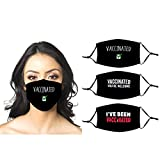 I've Been Vaccinated Vaccinated Safe Vaccinated You're Welcome Pack of 3 Adult Reusable Windproof Face Mask with 6 Filters for Outdoor Sports Bandana Scarf