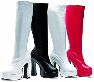 Ellie Shoes Women's 5 Inch Heel Stretch Knee Boots. with Inner Zipper