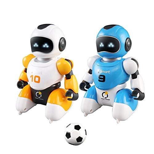 D.ragon RC Roboter Spielzeug für Kinder, 2 Stück Smart USB Aufladung Fernbedienung Fußball Roboter Spielzeug Intelligent, singt und tanzend Simulation pädagogisches Spielzeug