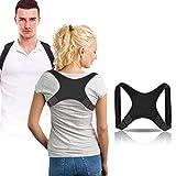 Haltungskorrektur Rücken, Geradehalter zur Haltungstrainer Rückentrainer Rückenstütze verstellbare Rücken Unterstützung Schultergurt Gürtel für Damen und Herren Schultergurt Posture Corrector(M) -