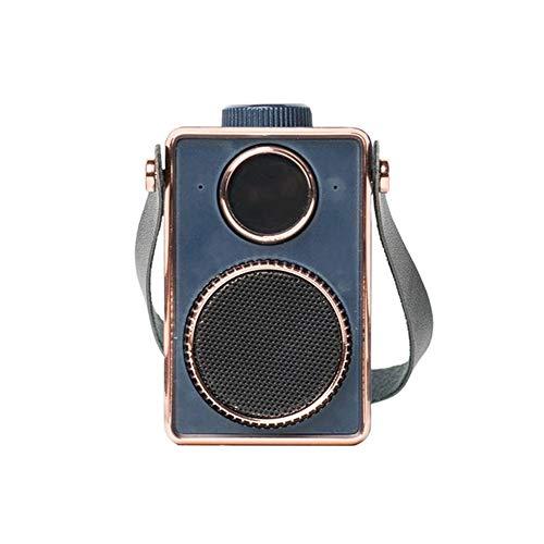 Bluetooth luidspreker retro draagbaar mini draadloze handsfree stereo subwoofer zuil luidspreker muziekspeler