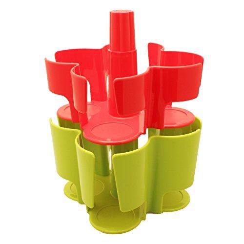 Tassimo Koziol Carousel / Karussel T-Disc Halter, 2-tlg., für 40 T-Discs, Kaffee Kapselhalter, Kunststoff, Rot / Grün