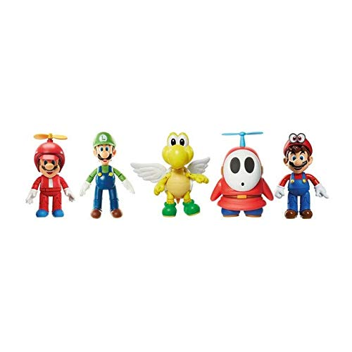 World of Nintendo 4' Green Shell Koopa para Troopa with Wings Action Figure
