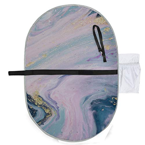 Pastellfarben Natürliche Luxus Marbleized Effekt Wickeltasche Matte Tragbare Wickelauflage 27x10 Zoll Wasserdichte Faltbare Matte Baby Tragbare Wickelstation Kinder Wickelauflage