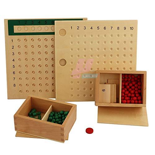 Springbird Montessori Math Multiplicación y división de material de madera real