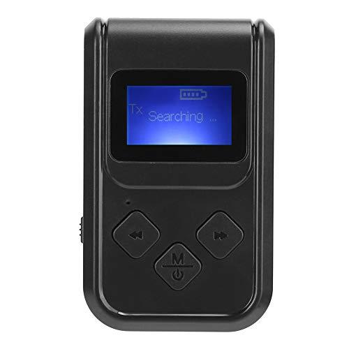Weikeya Adaptador de audio Bluetooth de alta confiabilidad, Bluetooth Recepción Distancia ≤10M Hecho de ABS 61g 2.4GHz-2.48GHz (negro)