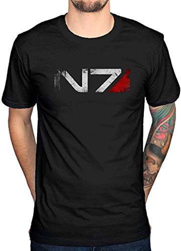Mass Effect n7 t-Shirt Xbox Playstation Game Console Video Series cod BlackXL