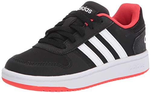 adidas Boys' Hoops 2.0 K Sneaker, Black, 13K M US Big Kid