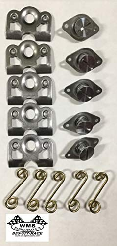 Self Ejecting Dzus Fasteners With Springs and Plates 5 Pack By WMS Racing Products