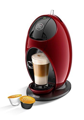 De'Longhi EDG 250.R NESCAFÉ Dolce Gusto Jovia Kapsel Kaffeemaschine für heiße und kalte Getränke, 15 bar Pumpendruck für samtige Crema, Manuelle Wasserdosierung, 0,8l Wassertank, abnehmbar, Rot