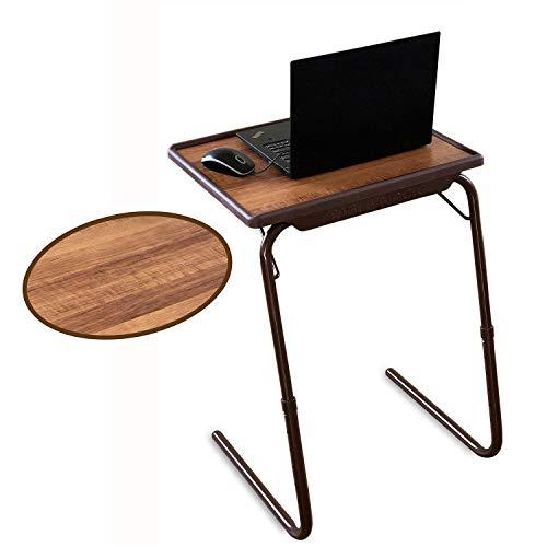 Bi3 Multipurpose Laptop Study Table Strong Top 6 Heights 3 Angles Portable Adjustable Foldable (Alder Brown)