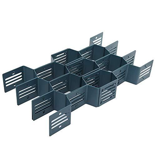 ZLYPSW 12 rejillas ajustable de panal cajón de tablilla divisor de maquillaje organizador de partición separador de celdas de clasificación de bragas calcetines