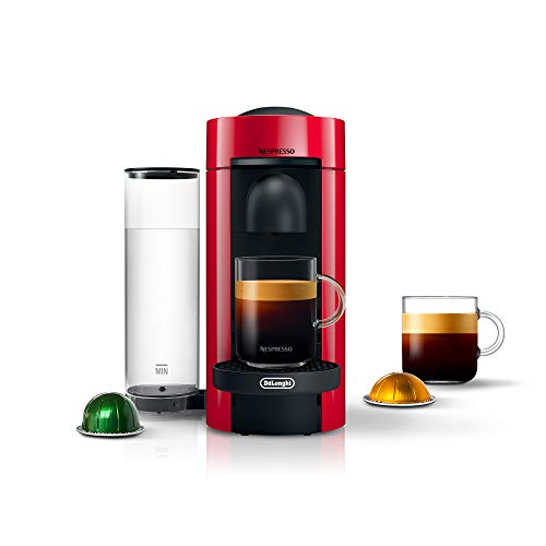Amazon - Nespresso VertuoPlus Coffee & Espresso Machine by De'Longhi, Red $104.30