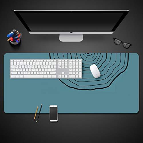 STDNJQ tapete escritorio mousepad Azul pavo real abstracto simple 800x300x3mm/31.5x11.8x0.118 inch Alfombrilla De Teclado Impermeable Base Antideslizante alfombrilla de ratón para juegos de computado