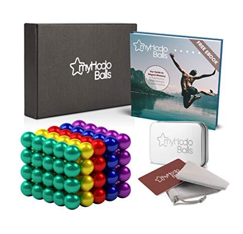 Bolas Magnéticas de Colores myHodo, 100 Bolitas Magnéticas, Magnet Balls, Imanes Pequeños para Aliviar el Estrés, Bolas Imantadas, Perfecta Idea de Regalo Antiestrés, Edición Especial (colores)
