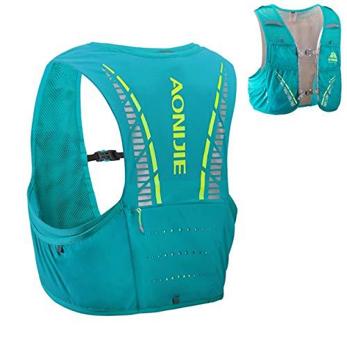 Azarxis 5L Zaino per Running, Zainetto Leggero da Corsa Ciclismo, Gilet Running Trail, Zaino Idratazione per Uomo Donna (Verde Chiaro, M/L (90-102cm))