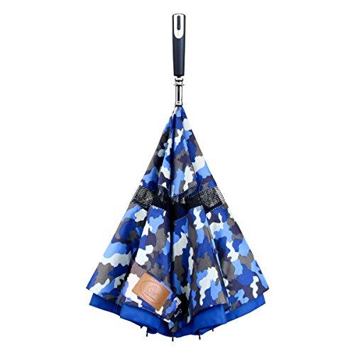 【CARRY saKASA (キャリーサカサ) カモフラ Model(カモフラ モデル) 】 濡れない傘 逆折り式傘 晴雨兼用...