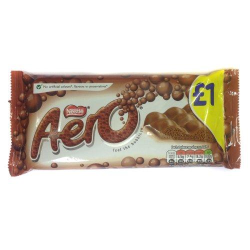 Nestle Aero Milk Chocolate (ネスレ エアロ ミルクチョコレート) 100g x 6pk 【並行輸入品】【海外直...