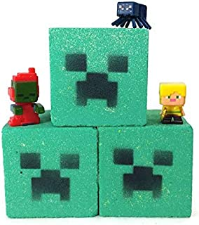 Pack of 3 Creeper Block Toy Bath Bombs - 7.5 Oz