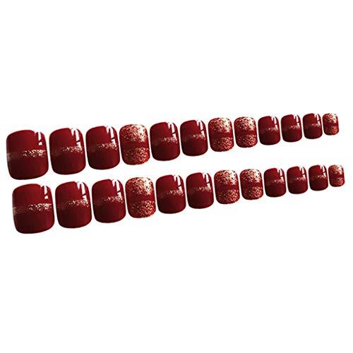 Injoyo 24x ABS Puntas De Uñas Postizas Uñas De Bailarina Cortas De Cubierta Completa Artificial Natural