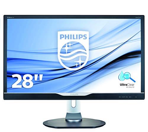 """Philips 288P6LJEB Gaming Monitor da 28"""", 4K UHD 3840 x 2160, LED TN, Tempo di Risposta 1 ms, Regolabile in Altezza, Girevole, Pivot, Audio Integrato, HDMI, Display Port, DVI, VGA, USB, Vesa, Nero"""