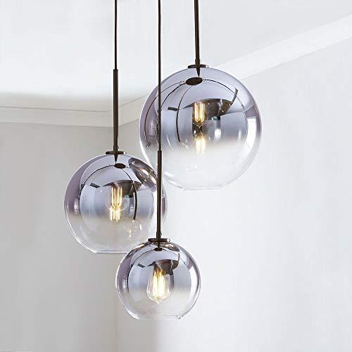 Moderna regolabile Tavolo lampada a sospensione, 3 sottile sfera di pendenza di vetro Lampada a sospensione altezza, regolabile Lampadario E27 luce di soffitto for sala da pranzo Soggiorno Camera da l