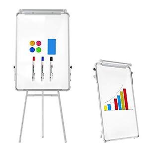 Tablero de caballete pizarra magnética de borrado en seco 90 x 60 cm tablero de trípode ajustable en altura para oficina, hogar y aula