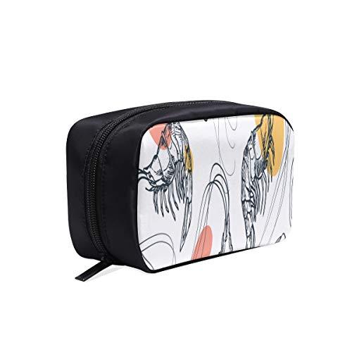 Taschen Für Männer Mode Animation Cartoon Meeresfrüchte Lebensmittel Garnelen Reise Werkzeugtasche Kosmetische Reisetasche Männer Make-Up Tasche Mode Kosmetiktaschen Multifunktions Fall Hängen Kosmet