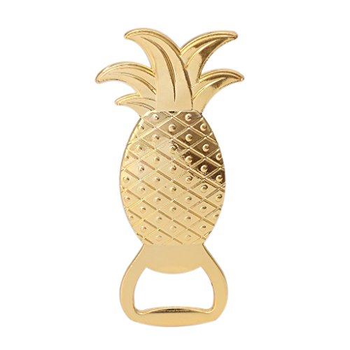 TSBB Goldene Ananas Form Bier Wein Flaschenöffner Barware Werkzeug Hochzeitsgeschenk